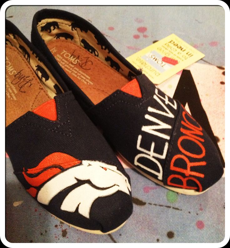 Denver Broncos Custom toms shoes by CustomTOMSbyJC on Etsy, $100.00