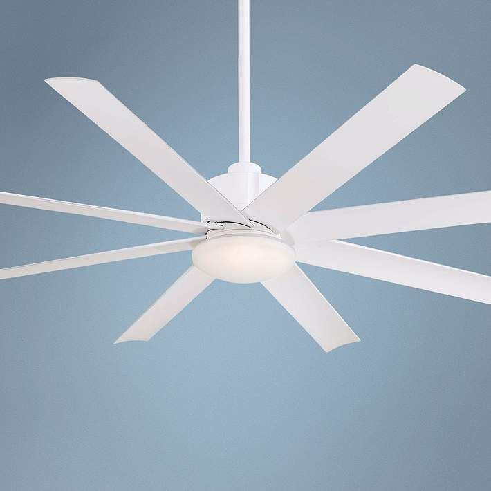 """65"""" Minka Aire Slipstream White Outdoor Ceiling Fan - #3D578   Lamps Plus"""