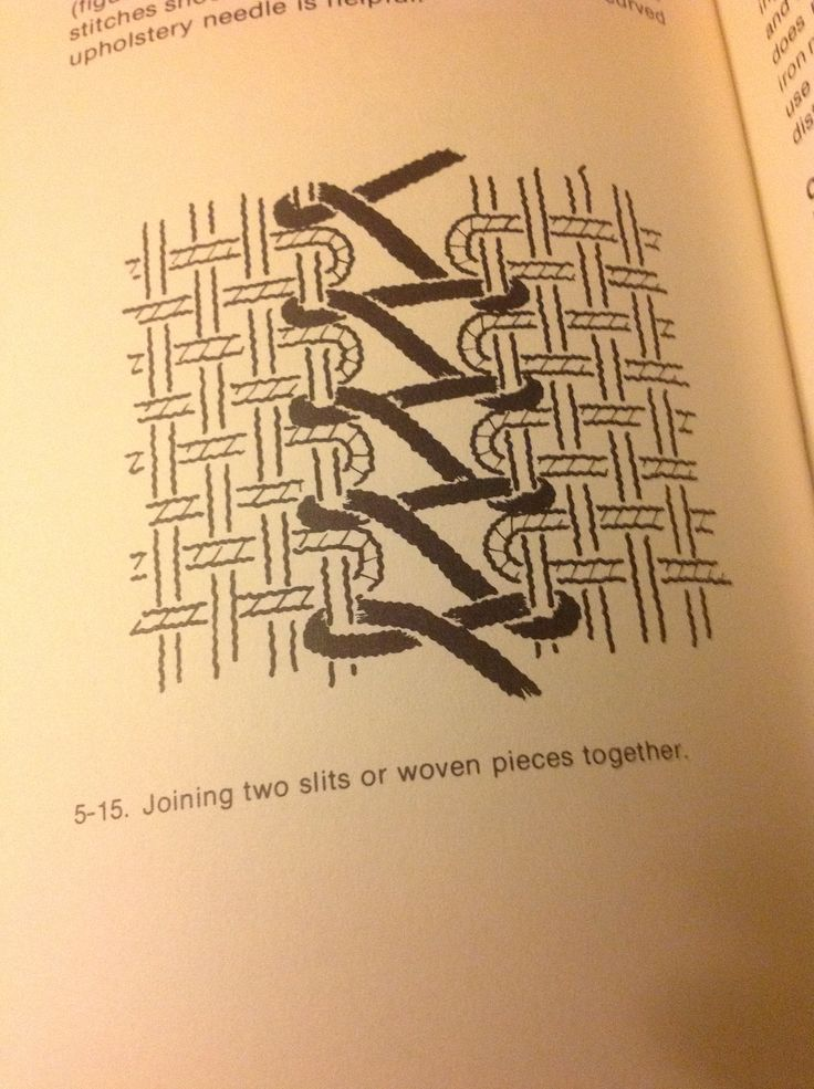 Joining 2 pieces of weaving together