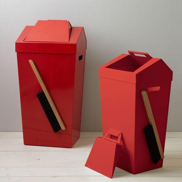Brendan Ravenhill Dustbin - Red