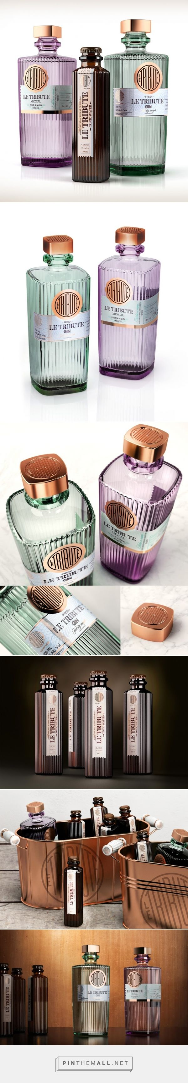 LE TRIBUTE - Gin, Mezcal, Tonic water packaging design by SeriesNemo (Spain) avantgarde contemporary - http://www.packagingoftheworld.com/2016/05/le-tribute.html