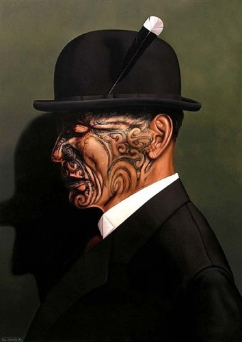 The Tohunga by Paul Jackson  Oil on linen