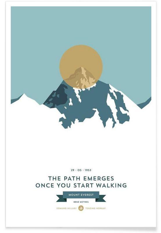 Mount Everest Gold - Joe Mania - Premium Poster