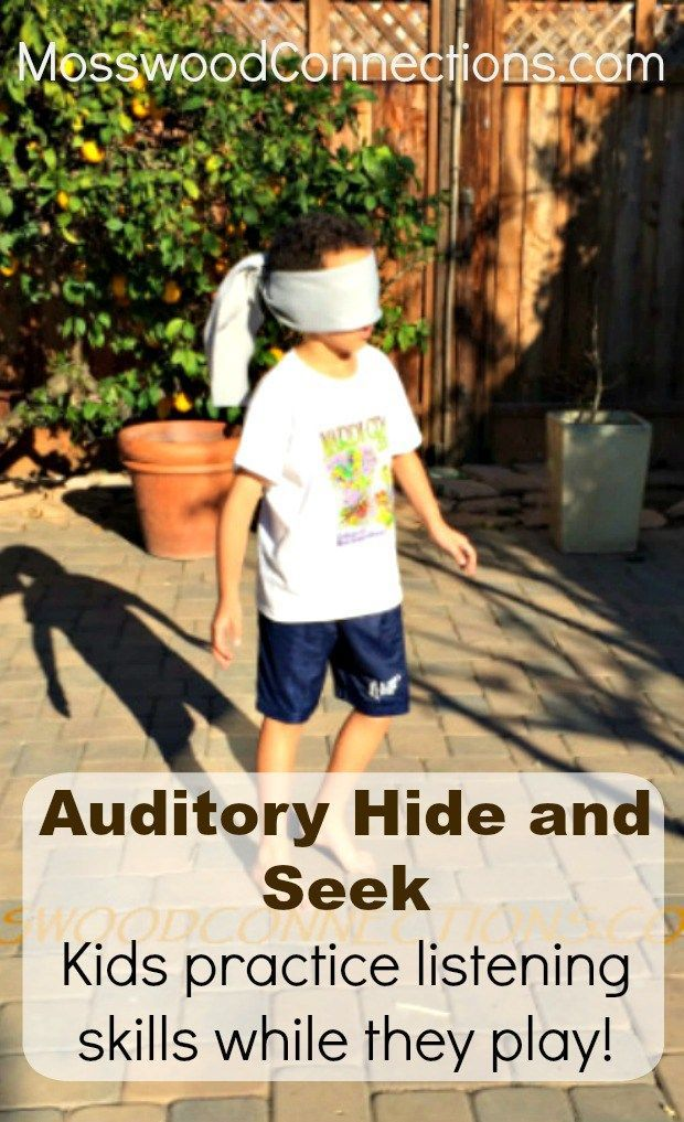 Auditory Hide and Seek Kids practice listening skills while they play!