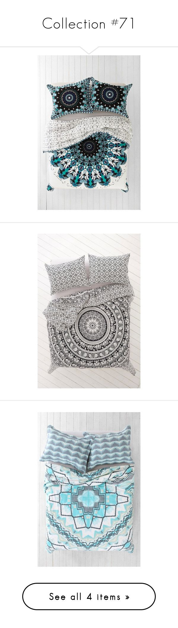"""""""Collection #71"""" by mindlessforeva on Polyvore featuring home, bed & bath, bedding, duvet covers, twin xl bedding, king size bedding, twin extra long bedding, king duvet insert, king bedding and boho bedding"""
