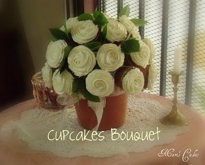 Cupcake Bouquet - great idea for Valentines day or Mother's Day