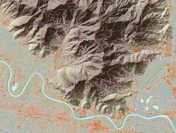 DTM, ortofoto e plastici del Monte Pisano, 2004 - Alberto Antinori