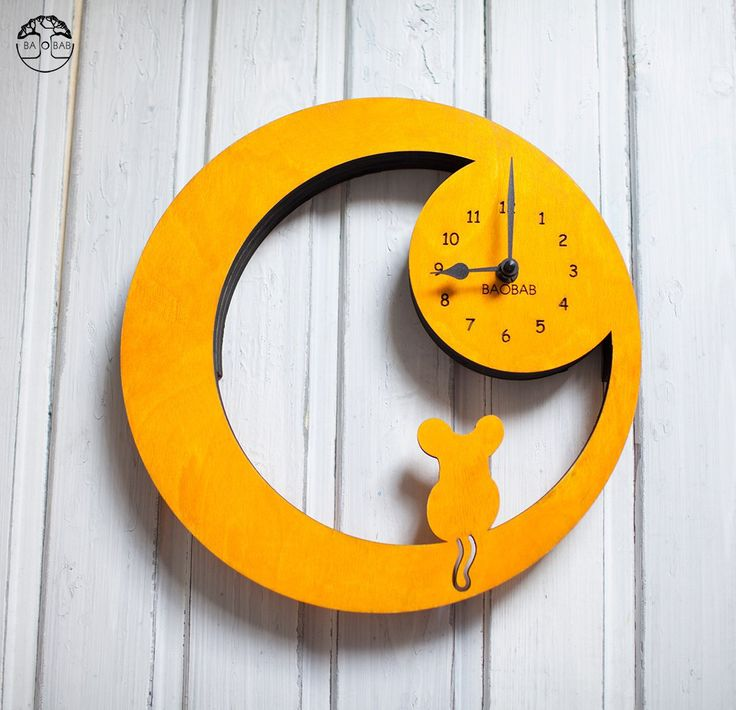 "Wooden wall clock "" Mouse"" by BAOBAB"