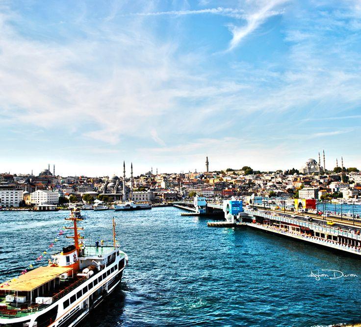 Istanbul Golden Horn and Galata Bridge