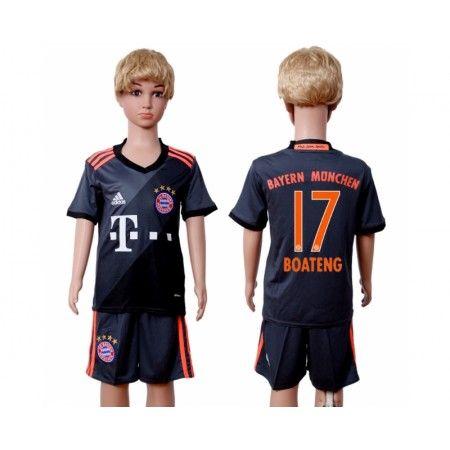 Bayern München Trøje Børn 16-17 #Boateng 17 Udebanetrøje Kort ærmer.199,62KR.shirtshopservice@gmail.com