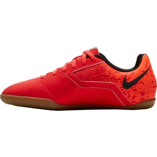 Nike Boys' Bombax Indoor Soccer Shoes (Black/Medium Red, Size 11) - Youth Soccer Shoes at Academy Sports