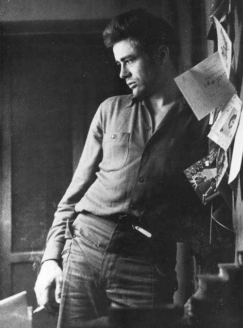 James Dean photographed by Roy Schatt on Christmas Day, 1954.