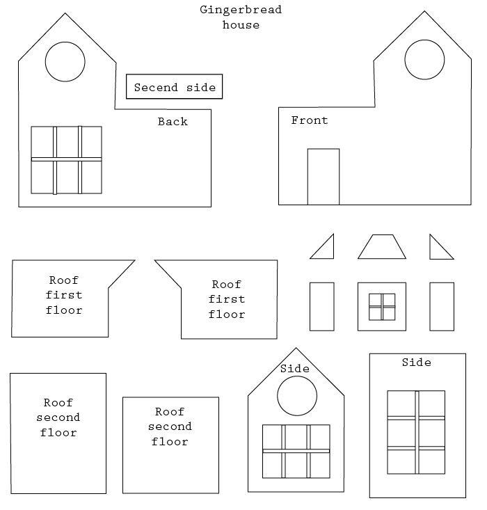 Simple Gingerbread House Plans Jpg 700 733 Pixels Gingerbread House Template Gingerbread House Patterns Gingerbread House Template Printable