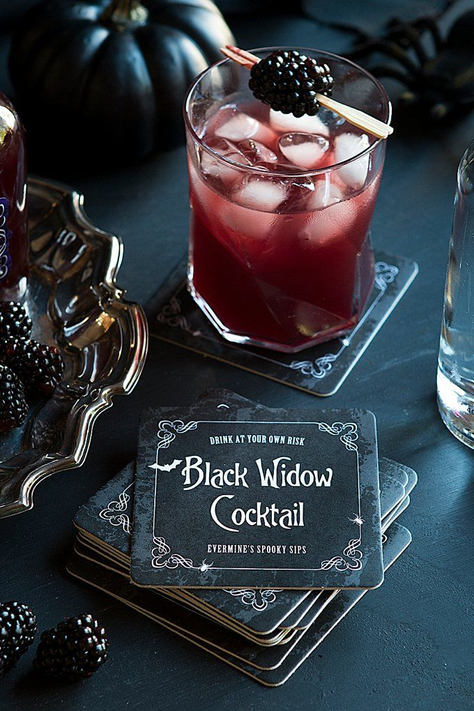 Spooky Sips - Black Widow Cocktail