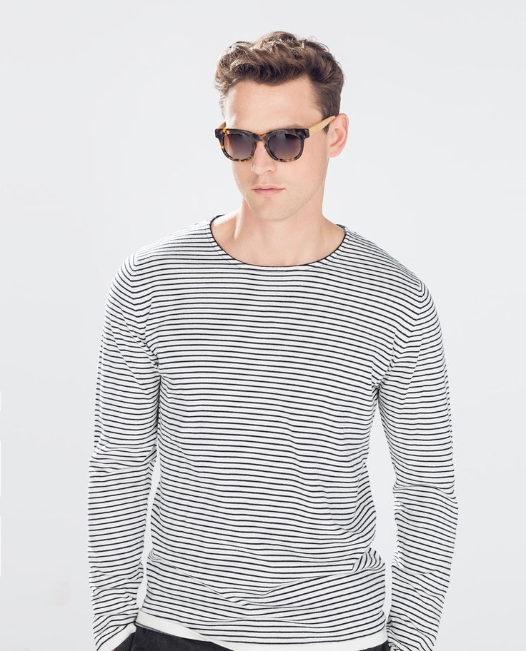 Image 1 of FINE STRIPED SWEATER from Zara