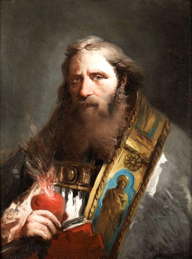 Giovanni Domenico Tiepolo (Italian: 1727-1804) - Saint Augustine ~Via Andrew Yang