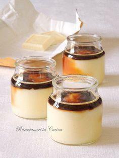 Vasetti di Crema Pasticciera al Cioccolato Bianco e Caffè.