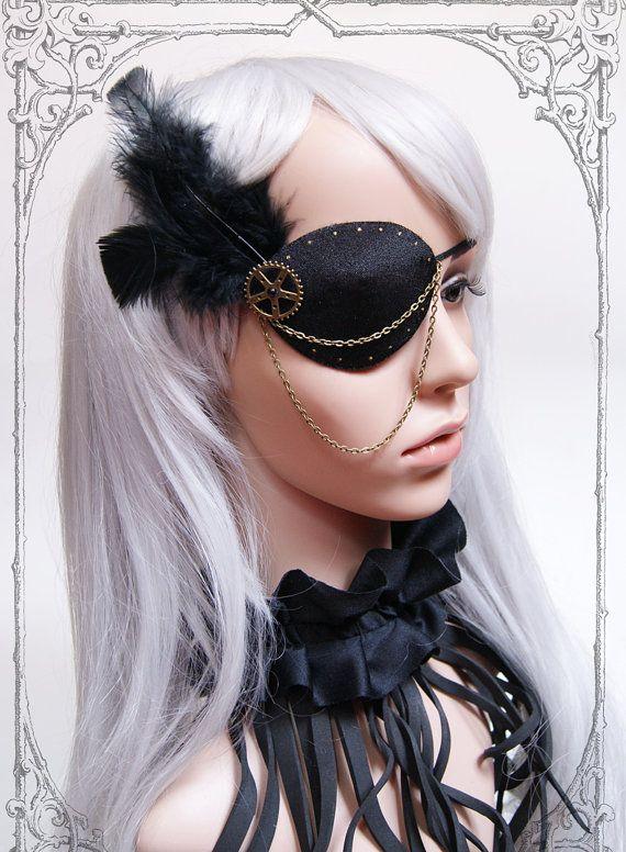 Steampunk Pirate Eyepatch by BlackUnicornShop on Etsy