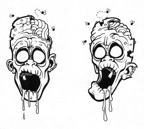 Pin Dijo Monstruos Zombie Tattoo By Boooogerbrain Or Kw Monster