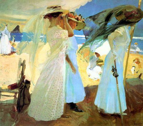 Joaquin Sorolla, Under the Awning, 1910 by Gatochy, via Flickr (Joaquin Sorolla y Bastida [Spanish Realist/Impressionist Painter, 1863-1923]