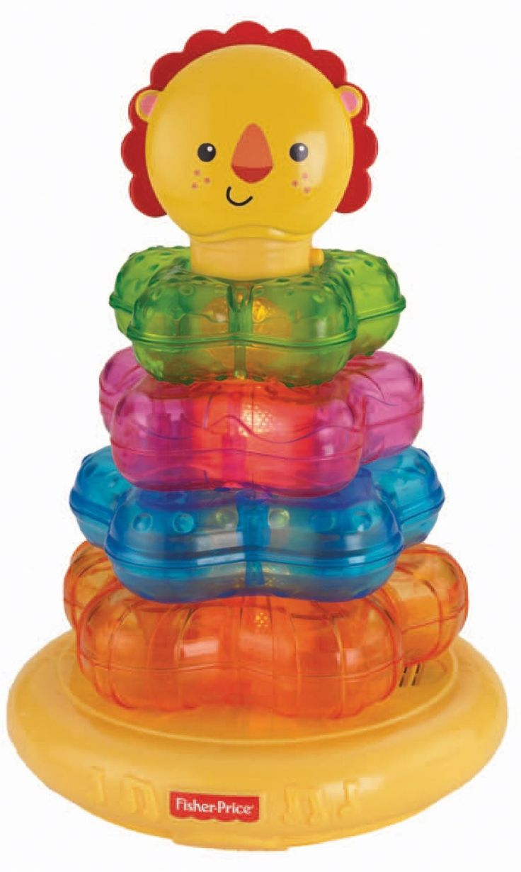 http://www.specialtytoystores.com/category/fisher-price/ Fisher-Price Light-Up Lion Stacker