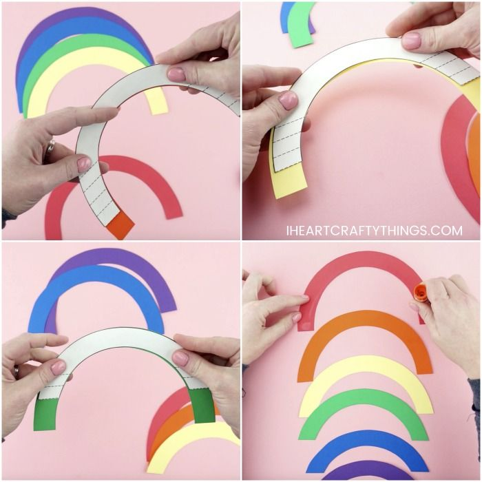 How To Make An Easy Pop Up Rainbow Card Rainbow Card Pop Up Card Templates Rainbow Crafts Kids