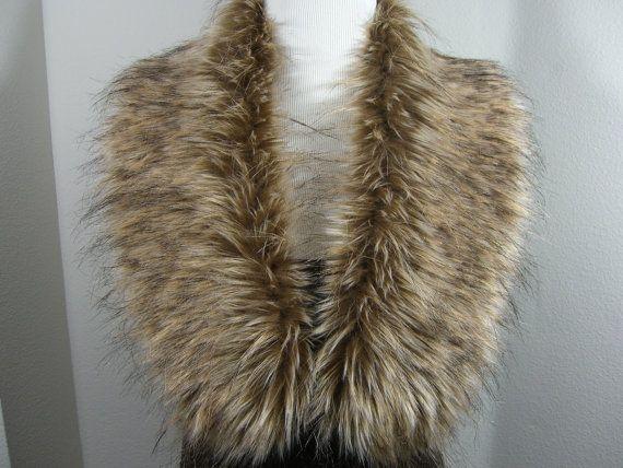 Faux Fur COLLAR  Women's Fur Neckwarmer Tip Dyed Fox by HotHats