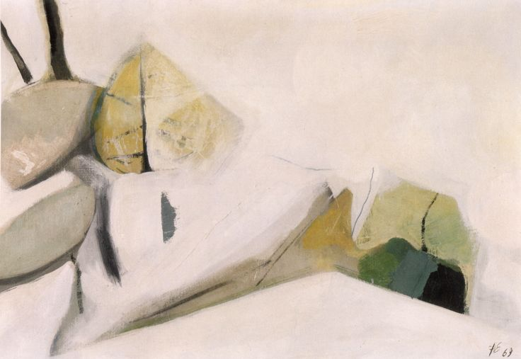 Hans Ebensperger, (Prad am Stifserjoch, 1929 -1971), Früher Schnee, 1969, Olio su tela / Öl auf Leinwand, 70 x 105 cm