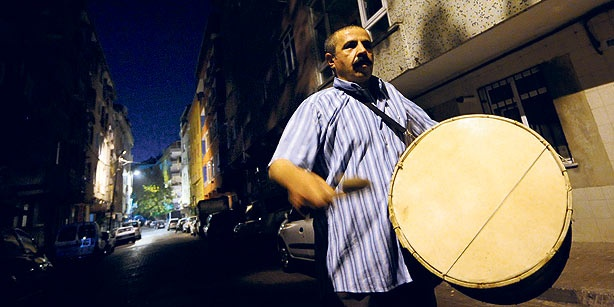 Tradition Ramazan drummers.in Turkey, Ramadan drummers are one of the most important markers of the holy month of Ramadan, helping people wake up for the pre-dawn meal by drumming during Ramadan nights