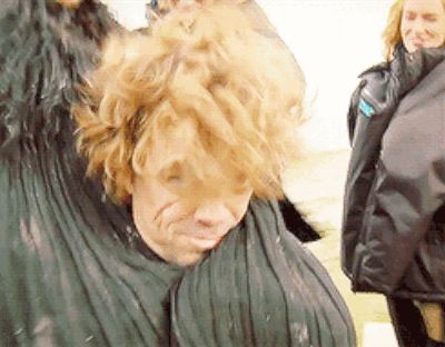 "…and having Tyrion hide in his cape… | Seeing The ""Game Of Thrones"" Cast As Normal Humans Is Still Completely Mesmerizing"