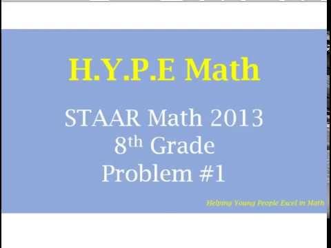8th Grade Texas STAAR Test 2013 Problem #1 – Math Help and STAAR Test Prep Videos