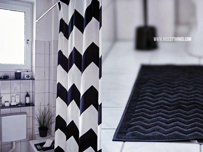 Die besten 25 chevron duschvorh nge ideen auf pinterest - Schwarzer duschvorhang ...