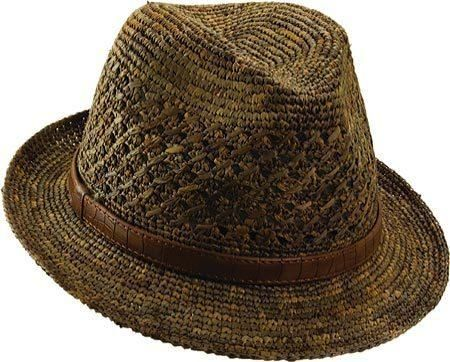 Crochet Raffia Cowboy Hat Pattern : mens #crochet #raffia hat sold via Beso #aff Crochet ...