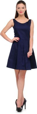 Colors Couture Women's Empire Waist Dress - Buy Navy Colors Couture Women's Empire Waist Dress Online at Best Prices in India | Flipkart.com