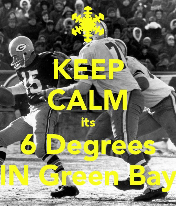 Today remind anybody of the Ice Bowl?  The temperature is dropping in Green Bay as kick-off is nearing!  Stay strong #Packers its the #NFL #playoffs.