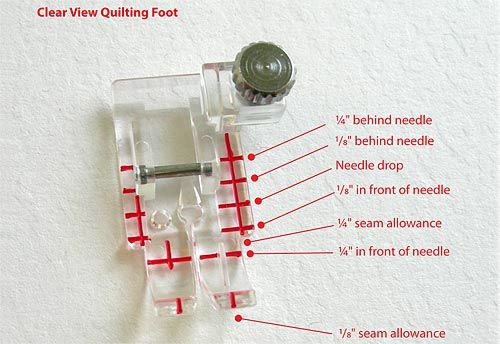 How to use the Janome Clear Foot Quilting Food