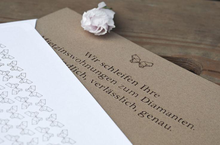 Direct mailing mit Lasergravur auf Schleifpapier für einen Bauträger im Premiumsegment - PERIANT.