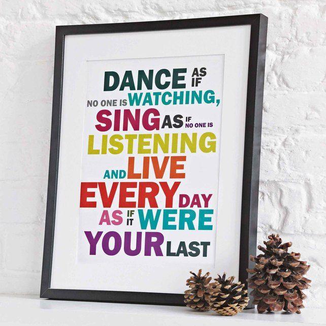 'Sing As If' Print A3 Print