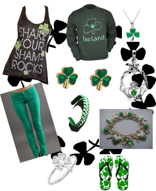 """""""My St. Patrick's day outfit"""" by sarinavarela on Polyvore"""