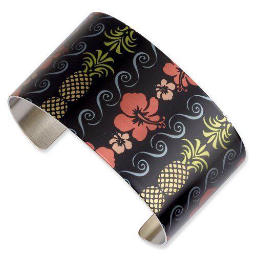 Stainless Steel Pineapple Days Cuff Bangle Jewelry Adviser Bangle Bracelets. $48.94. Save 60%!