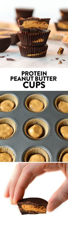 What's better than a peanut butter cup? A peanut butter cup amped with extra protein! Make these delicious protein peanut butter cups with just a few ingredients!