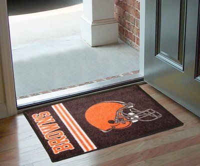 """Cleveland Browns Starter Rug 20""""x30"""" by Fanmats. $13.68. Cleveland Browns Starter Rug 20""""x30""""Decorate your home or office with area rugs by FANMATS. Made in U.S.A. 100% nylon carpet and non-skid recycled vinyl backing. Officially licensed and chromojet printed in true team colors. Please note: These products are custom made. The normal lead time is about 7-10 business days. However, the putting mats and carpet tiles do take a little longer, about 14-21 business days..."""