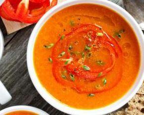 Soupe tomates et carottes aux poivrons rôtis Weight Watchers – 1 PP : http://www.fourchette-et-bikini.fr/recettes/recettes-minceur/verrine-de-chou-fleur-et-gambas-weight-watchers-4-pp.html