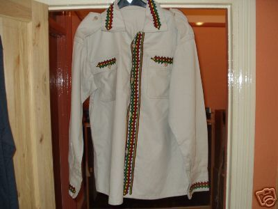 An Ethiopian suit is the name given in America to the traditional formal wear of the men of Ethiopia.[1] It consists of a long sleeve, knee-length shirt, and matching pants. Most shirts are made with a Mandarin, band, or Nehru collar. The suit is made of chiffon, which is a sheer silk or rayon cloth. A shawl called a netela or a kuta is wrapped around the suit, see Culture of Ethiopia. During the 2008 Summer Olympics Opening Ceremony, Parade of Nations, the Ethiopian team marched in white…