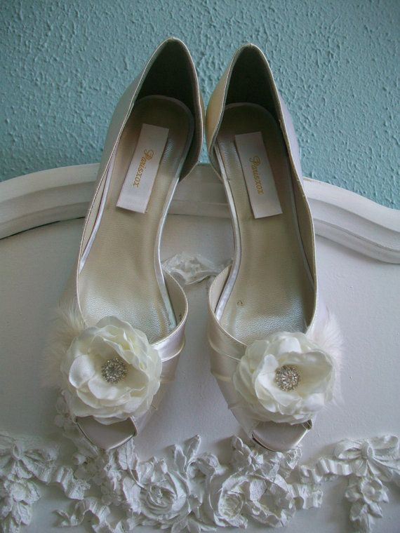 Ivory Wedding Shoes 100 Colors Available Ivory Cream by Parisxox, $164.00