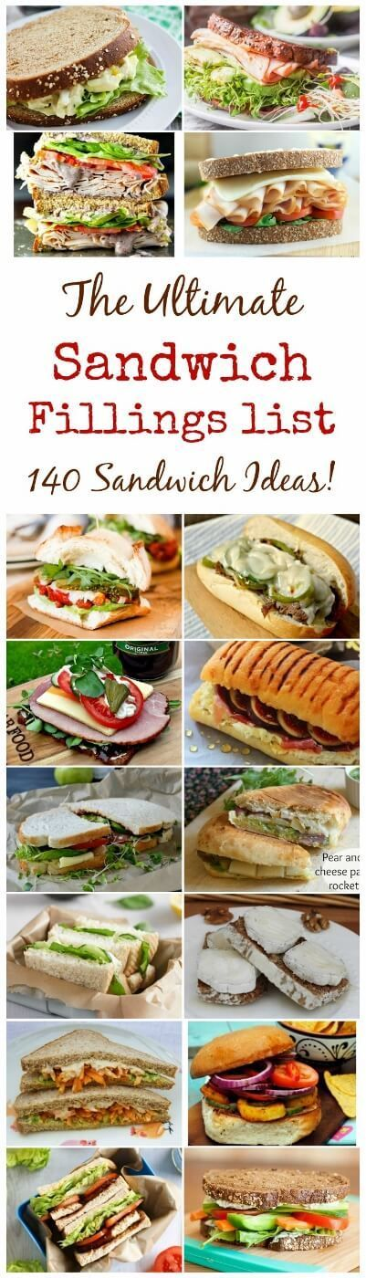 Over 140 sandwich filling ideas for packed lunches - sandwiches will never be…