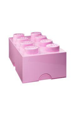 LEGO Toys Förvaring 8 Rosa Design Inreda med LEGO eller samla allt ditt lego i dessa praktiska förvaringsboxar? Javisst! Med förvaringsboxar och papperskorgar i alla de klassiska legofärgerna. Perfekt för barnkammaren men egentligen snyggt, och praktiskt, i vilket rum som helst. Alla klossar och huvuden är kompatibla och kan byggas ihop, tillverkade av plast.<br><br>Mått: 25 x 50 x 18 cm  <br><br>
