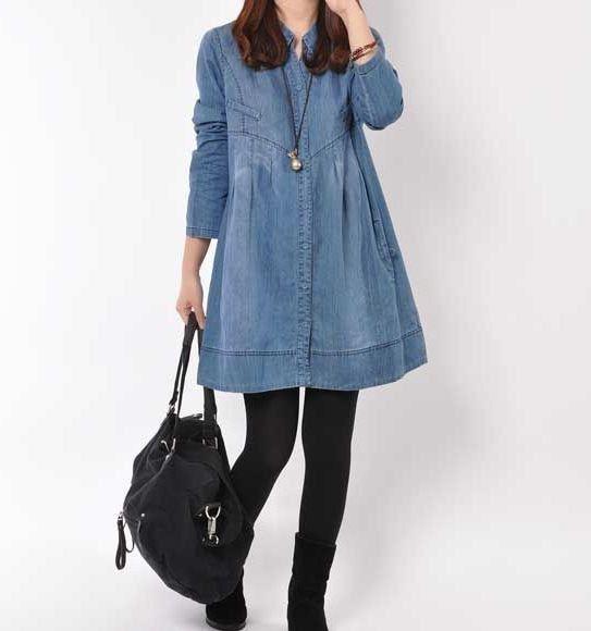 Denim dress Denim shirt maxi dress long by originalstyleshop, $65.00