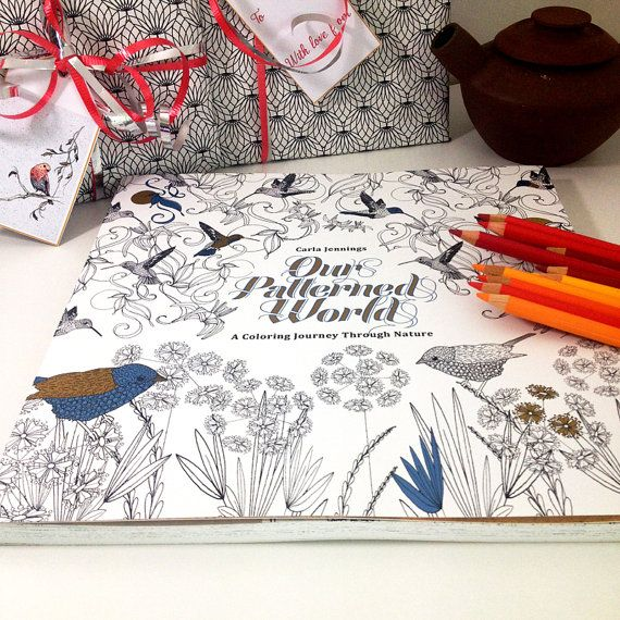 Coloring Book For Adults Grownup Colouring By TangledPeacock