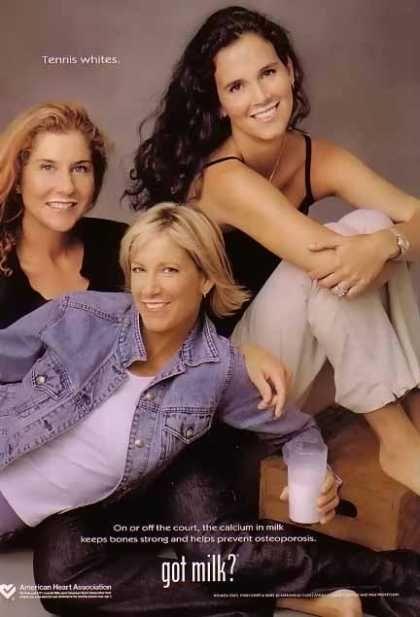 Monica Seles, Chris Evert & Mary Jo Fernandez – GOT MILK (2003)